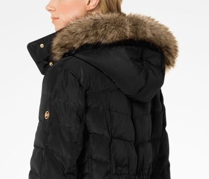 Michael Kors Down Jackets Faux Fur Plain Long Down Jackets 7
