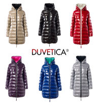 DUVETICA Street Style Plain Long Down Jackets