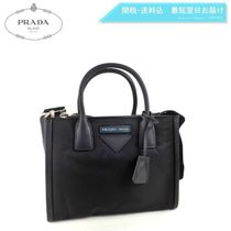 PRADA CONCEPT  Nylon Blended Fabrics 2WAY Plain Elegant Style Handbags