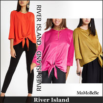 River Island Crew Neck Casual Style Long Sleeves Plain Medium