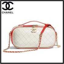 CHANEL Calfskin Blended Fabrics 2WAY Chain Elegant Style
