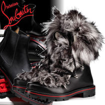 Christian Louboutin Plain Toe Mountain Boots Fur Blended Fabrics Street Style