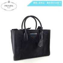 PRADA CONCEPT  Nylon A4 2WAY Plain Elegant Style Handbags