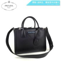 PRADA CONCEPT  2WAY Plain Leather Elegant Style Handbags