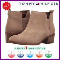 Tommy Hilfiger Round Toe Casual Style Plain Leather Block Heels