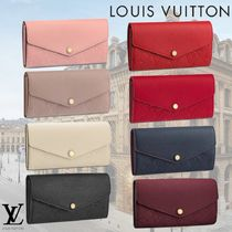 Louis Vuitton PORTEFEUILLE SARAH SARAH WALLET Monogram Empreinte Calfskin Long Wallets