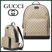 GUCCI Unisex Canvas Backpacks