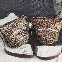 Leopard Patterns Casual Style Shoulder Bags