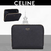 CELINE Calfskin Plain Coin Cases