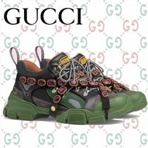 GUCCI Mountain Boots Blended Fabrics Plain Leather Sneakers