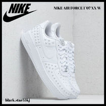 Nike AIR FORCE 1 Unisex Blended Fabrics Studded Sneakers