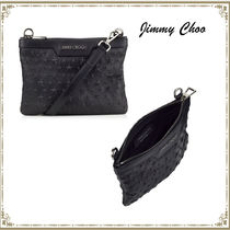 Jimmy Choo Unisex Studded Street Style Bag in Bag Plain Leather