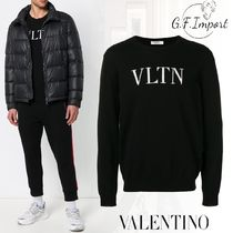 VALENTINO Crew Neck Cashmere Street Style Long Sleeves