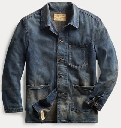 Short Street Style Plain Denim Jackets Oversized Jackets