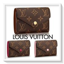 Louis Vuitton Monogram Blended Fabrics Leather Folding Wallets