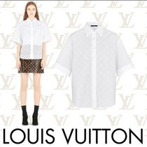 Louis Vuitton Short Monogram Short Sleeves Oversized Cropped