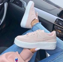 Nike AIR FORCE 1 Platform Casual Style Street Style Plain