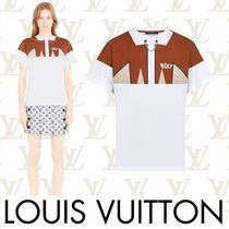 Louis Vuitton Crew Neck Short Chain Cotton Short Sleeves Cropped