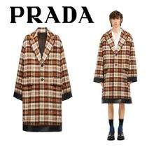 PRADA Other Check Patterns Wool Oversized Coats