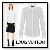Louis Vuitton Silk Long Sleeves Plain Medium Office Style Shirts & Blouses