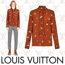 Louis Vuitton Short Silk Long Sleeves Elegant Style Cropped