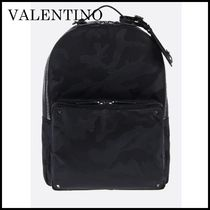 VALENTINO Camouflage Nylon Backpacks