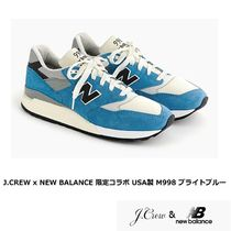 New Balance 998 Suede Blended Fabrics Street Style Collaboration Plain