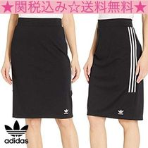adidas Pencil Skirts Casual Style Plain Medium Midi Skirts