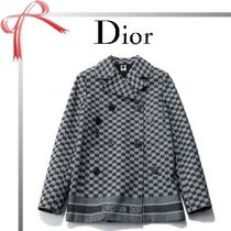 Christian Dior Other Check Patterns Casual Style Denim Peacoats