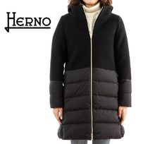 HERNO Wool Blended Fabrics Down Jackets