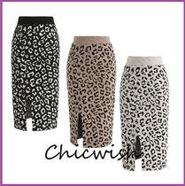 Chicwish Pencil Skirts Leopard Patterns Casual Style Long Maxi Skirts