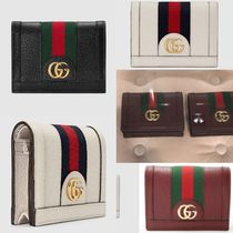 GUCCI Ophidia Suede Plain Folding Wallet Coin Cases