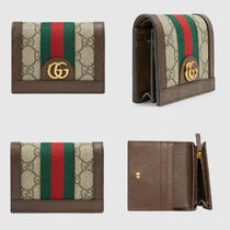 GUCCI Ophidia Monogram Canvas Folding Wallets