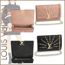 Louis Vuitton TWIST Calfskin Blended Fabrics 2WAY Bi-color Chain Elegant Style
