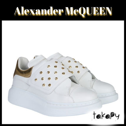 Round Toe Rubber Sole Casual Style Plain Leather Oversized