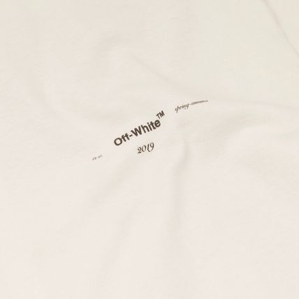 Off-White Long Sleeve Crew Neck Street Style Long Sleeves Cotton 6
