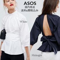 ASOS Cropped Plain Cotton Shirts & Blouses