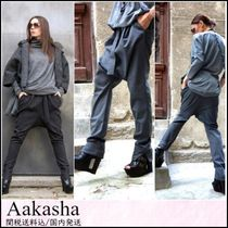 Aakasha Plain Cotton Long Handmade Elegant Style Sarouel Pants