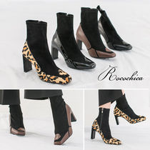 Leopard Patterns Casual Style Spawn Skin Blended Fabrics