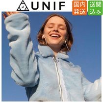 UNIF Clothing Short Heart Casual Style Faux Fur Street Style Plain Jackets
