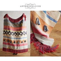 Anthropologie Stripes Tassel Fringes Ethnic Throws