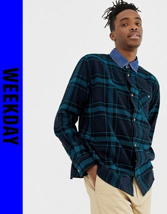 Other Check Patterns Street Style Shirts