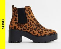 ASOS Leopard Patterns Casual Style Ankle & Booties Boots