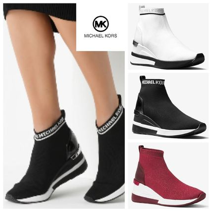 4f20bdd4d92 ... Michael Kors Low-Top Round Toe Rubber Sole Casual Style Street Style  Plain Bold ...