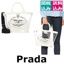 PRADA Casual Style 2WAY Plain PVC Clothing Shoulder Bags