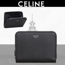 CELINE Plain Leather Coin Cases