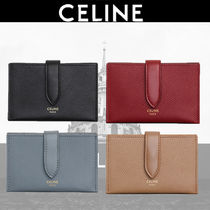 CELINE Calfskin Plain Card Holders