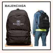BALENCIAGA Nylon Plain Backpacks