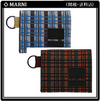 MARNI Other Check Patterns Nylon Collaboration Folding Wallets