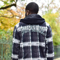 Supreme Other Check Patterns Unisex Collaboration Long Sleeves